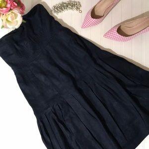 J. Crew Blue Linen Strapless Dress - 2